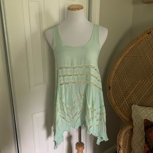 XS Free People Voile & Lace Trapeze Slip